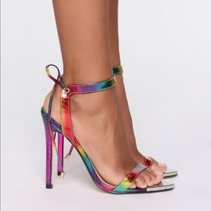 Fashion Nova • Rainbow Heels